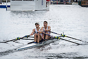Henley Royal Regatta, Henley on Thames, Oxfordshire, 28 June - 2 July 2017.  Saturday  14:07:56   01/07/2017  [Mandatory Credit/Intersport Images]<br /> <br /> Rowing, Henley Reach, Henley Royal Regatta.<br /> <br /> The Double Sculls Challenge Cup<br />  P.H. Houin & J.A. Azou (Club France, France)