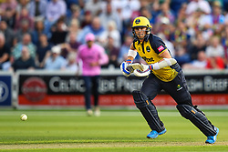 Dan Douthwaite of Glamorgan in action<br /> <br /> Photographer Craig Thomas/Replay Images<br /> <br /> Vitality Blast T20 - Round 4 - Glamorgan v Middlesex - Friday 26th July 2019 - Sophia Gardens - Cardiff<br /> <br /> World Copyright © Replay Images . All rights reserved. info@replayimages.co.uk - http://replayimages.co.uk
