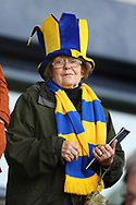 Shrewsbury Town fan during the The FA Cup fourth round match between Shrewsbury Town and Wolverhampton Wanderers at Greenhous Meadow, Shrewsbury, England on 26 January 2019.