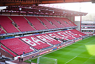 A general view of the main stand before the EFL Sky Bet League 1 match between Barnsley and Charlton Athletic at Oakwell, Barnsley, England on 29 December 2018.