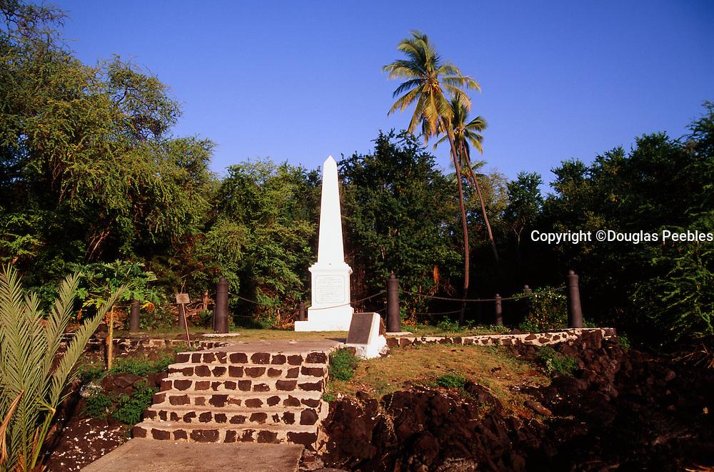 Captain Cook Monument, Kealakekua Bay,  Big Island of Hawaii, Hawaii