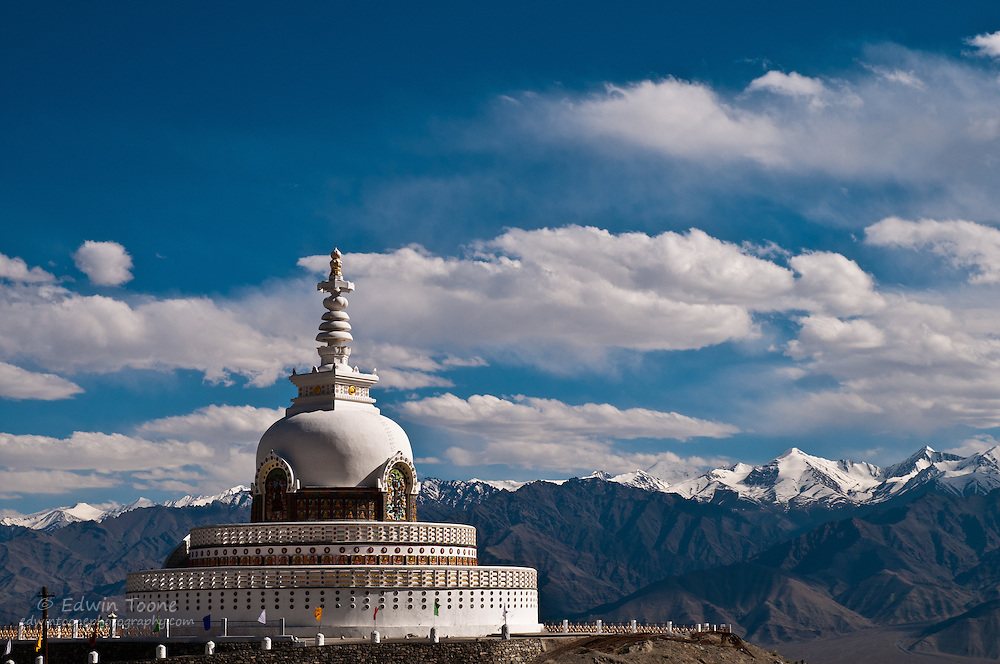 Shanti Stupa of Ladakh was constructed by a Japanese Buddhist organization, known as 'The Japanese for World Peace'.