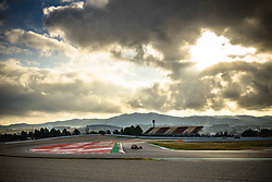 February 19, 2019 - Barcelona, Catalonia, Spain - A dragon is shaped by clouds as CHARLES LECLERC (MON) from team Ferrari drives in his in his SF90 during day two of the Formula One winter testing at Circuit de Catalunya (Credit Image: © Matthias OesterleZUMA Wire)