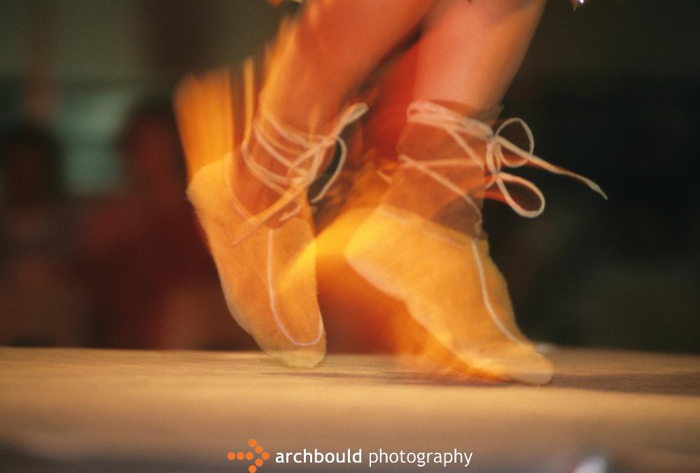 Dancing in moccassin