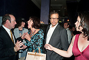 KEVIN SPACEY; MERCEDES RUEHL; JEFF GOLDBLUM; JO ALLAN, The Old Vic at the Vaudeville Theatre ' The Prisoner of Second Avenue'  press night. After-party at Jewel. 13 July 2010. -DO NOT ARCHIVE-© Copyright Photograph by Dafydd Jones. 248 Clapham Rd. London SW9 0PZ. Tel 0207 820 0771. www.dafjones.com.