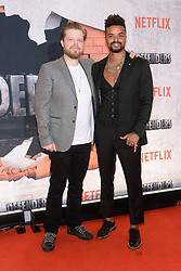 (L-R) Elden Henson and Eka Darville attend the 'Marvel's The Defenders' New York Premiere at Tribeca Performing Arts Center in New York, NY, on on July 31, 2017. (Photo by Anthony Behar) *** Please Use Credit from Credit Field ***