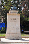 Israel, Beer Sheva, Statue of Field Marshal Sir Edmund Henry Hynman Allenby, 1st Viscount Allenby GCB, GCMG, GCVO (23 April 1861-14 May 1936) was a British soldier and administrator most famous for his role during the First World War, in which he led the Egyptian Expeditionary Force in the conquest of Palestine and Syria in 1917 and 1918. The statue stands in the commonwealth war cemetery