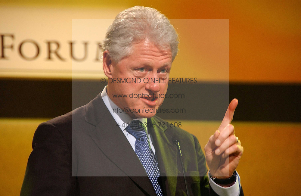 Former President of the USA BILL CLINTON at the Fortune Forum Dinner held at Old Billingsgate, 1 Old Billingsgate Walk, 16 Lower Thames Street, London EC3R 6DX<br /><br />NON EXCLUSIVE - WORLD RIGHTS