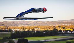 29.09.2018, Energie AG Skisprung Arena, Hinzenbach, AUT, FIS Ski Sprung, Sommer Grand Prix, Hinzenbach, im Bild Stephan Leyhe (GER) // Stephan Leyhe of Germany during FIS Ski Jumping Summer Grand Prix at the Energie AG Skisprung Arena, Hinzenbach, Austria on 2018/09/29. EXPA Pictures © 2018, PhotoCredit: EXPA/ JFK