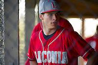 Laconia High School varsity baseball with White Mountain.  Karen Bobotas for the Laconia Daily Sun