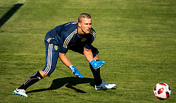 July 4, 2018 - Gelendzhik, Russia - 180704 Goalkeeper Karl-Johan Johnsson of the Swedish national football team at a practice session during the FIFA World Cup on July 4, 2018 in Gelendzhik..Photo: Petter Arvidson / BILDBYRN / kod PA / 92081 (Credit Image: © Petter Arvidson/Bildbyran via ZUMA Press)