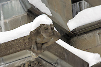 Gargoyles Outside Nidaros Cathedral in Trondheim, Norway. Image taken with a Nikon D2xs and 80-400 mm VR lens (ISO 400, 300 mm, f/5.6, 1/80 sec)