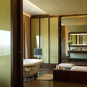 The Kohinoor Suite is the grandest suite at The Oberoi, New Delhi and has hosted Heads of States and many other dignitaries from across the world...Located high above the tree line, on the 7th floor of the hotel, and spread over 3,600 square feet, the suite comprises a living room, dining room with a service pantry, a fully-equipped study, master bedroom, a private living room and a relaxation room furnished with a treadmill and massage bed. While the luxurious bathroom is adjacent to the private living and relaxation rooms, a guest powder room is located off the living area.