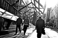2011 September 25 - Pedestrians in the afternoon sun, Vancouver, BC, Canada. Copyright Richard Walker
