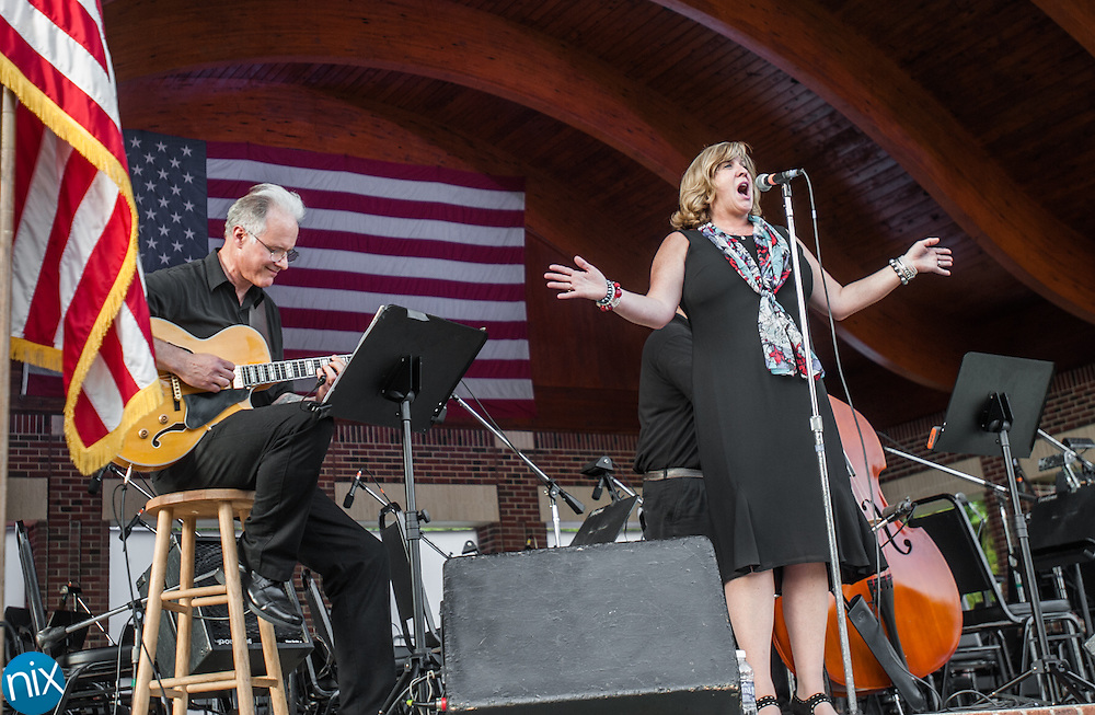 The Nita B Trio performs during the Symphonic Stars & Stripes Salute at Village Park in Kannapolis on July 2, 2014.