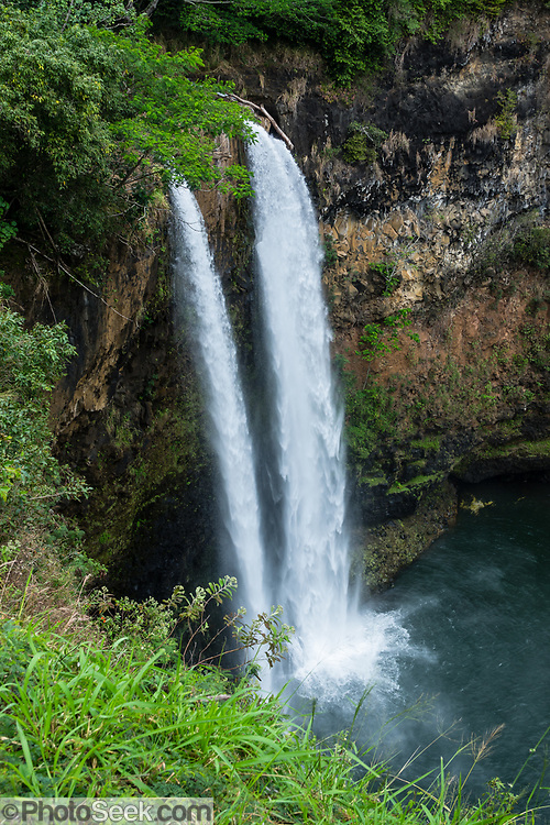 Wailua Falls is a 173-foot-high waterfall on the South Fork Wailua River near Lihue, on the island of Kauai, Hawaii, USA.