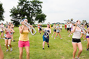 The Oregon Marching Band practices in Prophetstown, Illinois on June 25, 2009.