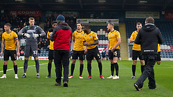 General view as the players walk out onto the pitch - Mandatory by-line: Jack Phillips/JMP - 02/11/2019 - FOOTBALL - Crown Oil Arena - Rochdale, England - Rochdale v Bristol Rovers - English Football League One