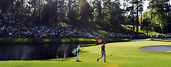 Thomas Pieters walks up to the 16th green during the second round of the Masters Tournament at Augusta National Golf Club in Augusta, Ga., on Friday, April 7, 2017. (Photo by Brant Sanderlin/Atlanta Journal-Constitution/TNS)  *** Please Use Credit from Credit Field ***