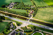 Nederland, Noord-Brabant, Gemeente Veghel, 26-06-2014; Zuid-Willemsvaart, brug over het kanaal bij Keldonk.<br /> luchtfoto (toeslag op standaard tarieven);<br /> aerial photo (additional fee required);<br /> copyright foto/photo Siebe Swart.