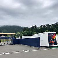 01.07.2020, Red Bull Ring , Spielberg, FORMULA 1 myWorld GROSSER PREIS VON ÖSTERREICH 2020, 03. - 05.07.2020 <br /> , im Bild<br />Container für die Teammitglieder und Fahrer<br /> <br />   <br /> <br /> Foto © nordphoto / Bratic