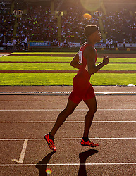 mens' 4x100 meter relay heat 2, Trayvon Bromell, USA