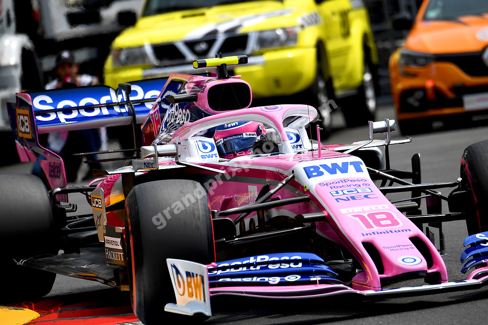 Lance Stroll (Racing Point-Mercedes) during practice before the 2019 Monaco Grand Prix. Photo: Grand Prix Photo