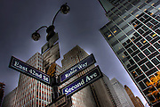 USA, NY, New York City, Manhattan, Rabin Way signpost