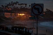 Sunset on Windasea Beach in La Jolla, San Diego, California, Jan. 6, 2010.
