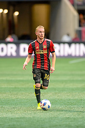October 21, 2018 - Atlanta, GA, U.S. - ATLANTA, GA - OCTOBER 21: Atlanta United forward Andrew Carleton (30) during the MLS game between the Atlanta United and the Chicago Fire on October 21, 2018 at the Mercedes-Benz Stadium in Atlanta, GA. Atlanta United FC secured a place in next year's CONCACAF Champions League with a 2-1 victory against the visiting Chicago Fire. (Photo by John Adams/Icon Sportswire) (Credit Image: © John Adams/Icon SMI via ZUMA Press)