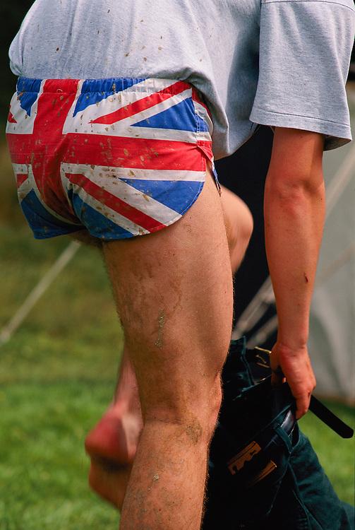 Patriotic underwear in Northern England.