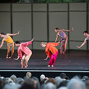 """Mark Morris Dance Group perfoms """"Mosaic and United"""" at Libbey Bowl on June 7, 2013 in Ojai, California."""
