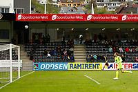 Fotball , 13. mai 2012, Tippeligaen Eliteserien , Sogndal - Viking <br /> Nils Kenneth Udjus, Sogndal. (Valon Berisha prøver chip). <br /> Foto: Christian Blom , Digitalsport