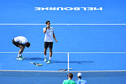 January 27, 2019 - Melbourne, AUSTRALIA - Pierre Hugues Herbert and Nicolas Mahut wins double championship at the Australian Open (Credit Image: © Panoramic via ZUMA Press)