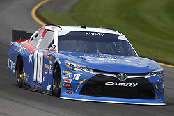 June 1, 2018 - Long Pond, Pennsylvania, United States of America - Kyle Busch (18) brings his car through the turns during practice for the Pocono Green 250 at Pocono Raceway in Long Pond, Pennsylvania. (Credit Image: © Chris Owens Asp Inc/ASP via ZUMA Wire)
