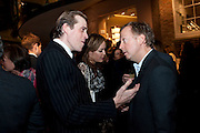 TOM PARKER BOWLES; TARA PALMER-TOMPKINSON; GEORDIE GREIG, Santa Sebag Montefiore and Asprey's host a book launch for Jerusalem: the Biography by Simon Sebag Montefiore. Asprey. New Bond St. London. 26 January 2010. -DO NOT ARCHIVE-© Copyright Photograph by Dafydd Jones. 248 Clapham Rd. London SW9 0PZ. Tel 0207 820 0771. www.dafjones.com.