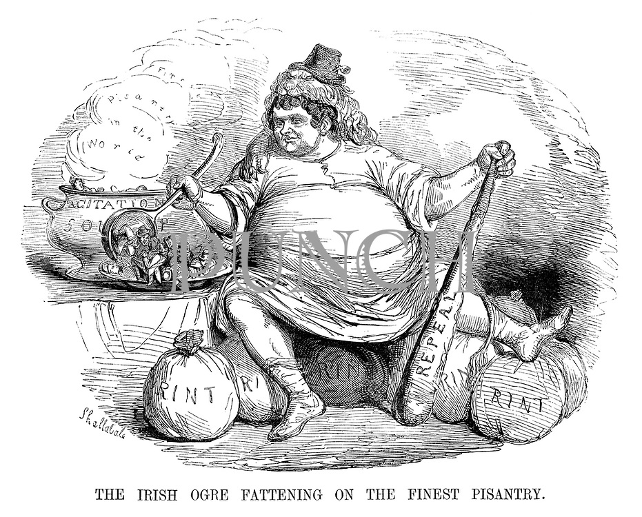 The Irish Ogre Fattening on the Finest Pisantry.