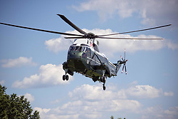 June 9, 2017 - Washington, District of Columbia, United States of America - Very high resolution stock photo of the approach of Marine One from the South Lawn of the White House in Washington, DC on Friday, June 9, 2017..Credit: Ron Sachs / CNP (Credit Image: © Ron Sachs/CNP via ZUMA Wire)