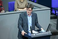04 NOV 2020, BERLIN/GERMANY:<br /> Dr. Lukas Koehler, MdB, FDP, spricht waehrend einer Debatte zur Klimaschutz-Politik, Plenum, Reichstagsgebaeude, Deutscher Bundestag<br /> IMAGE: 20201104-01-011<br /> KEYWORDS: Rede, Speech, Lukas Köhler