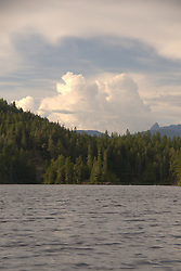 Clouds Over Waugh Lake, Sunshine Coast, British Columbia, Canada