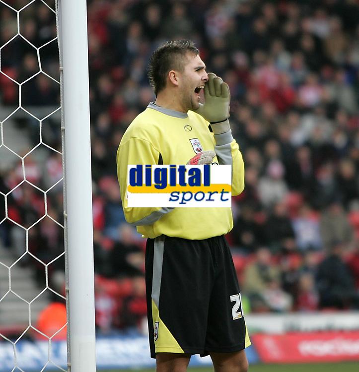 Photo: Lee Earle.<br /> Southampton v Derby County. Coca Cola Championship. 04/02/2006. Recent Southampton signing Bartosz Bialkowski.