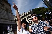 Nicolas Celaya/ URUGUAY/ MONTEVIDEO/ UDELAR<br /> En la foto, Vista de un eclipse anular frente a la Universidad de la Republica, en Montevideo. Nicolás Celaya /adhocFOTOS<br /> 2017 - 26 de febrero - domingo