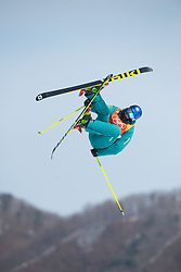 February 18, 2018 - Pyeongchang, South Korea - RUSSELL HENSHAW of Austrailia competes in the Mens Ski Slopestyle competition Sunday, February 18, 2018 at Phoenix Snow Park at the Pyeongchang Winter Olympic Games.  Photo by Mark Reis, ZUMA Press/The Gazette (Credit Image: © Mark Reis via ZUMA Wire)