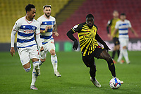 Football - 2020 / 2021 Sky Bet Championship - Watford vs Queens Park Rangers - Vicarage Road<br /> <br /> Ken Sema of Watford battles with Chris Willock of Queens Park Rangers.<br /> <br /> COLORSPORT/ASHLEY WESTERN