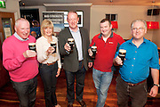 Kevin Carrick Killiney, Pamela Moon, Kilrea N. Ireland,  Former Interantional Mick Galway , Michael Conroy, Claremorris,  Michael Quain Renmore  at the GUINNESS Mid-Strength Taste Test Tour. Guinness Master Brewer Fergal Murray and former Irish Rugby International Mick Galwey hosted the event, which featured a special Q&A on rugby and a Pour Your Pint Competition. .Full details are available on www.Facebook.com/Guinnessireland GUINNESS Mid-Strength has the unmistakable distinctive taste and is brewed in exactly the same way as GUINNESS, just with less alcohol at 2.8%...The GUINNESS word and associated logos are trademarks...Enjoy Guinness Sensibly...Visit www.drinkaware.ie..