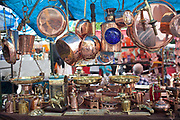Detail shot of items for sale, San Telmo market, Buenos Aires, Federal District, Argentina.