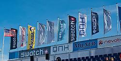 28-08-2010 VOLLEYBAL: SWATCH FIVB WORLD TOUR: SCHEVENINGEN<br /> Banners vlaggen op het Center Court<br /> ©2010-WWW.FOTOHOOGENDOORN.NL / Peter Schalk