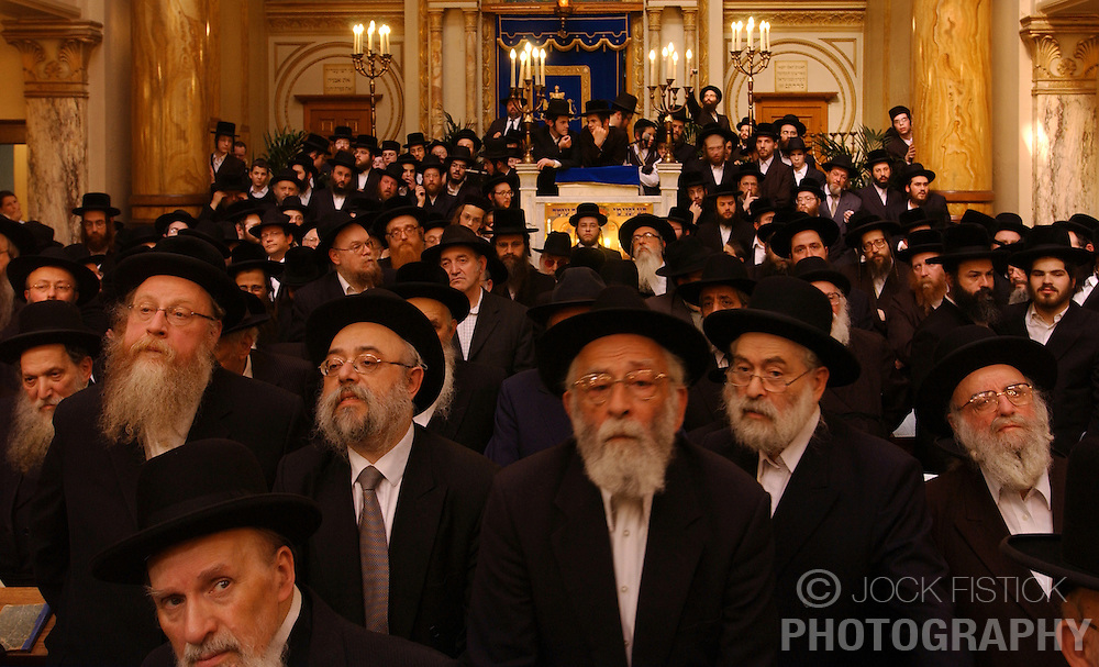 A new rabbi is introduced into a synagogue in Antwerp, Belgium for the first time in 50 years. The Orthodox Jewish community in Antwerp is the largest community in Europe. (Photo © Jock Fistick)