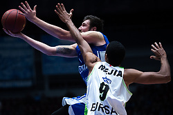 November 8, 2017 - Saint Petersburg, Russia - Sergey Karasev of Zenit St. Petersburg (L) and Sammy Mejia of Tofas Bursa vie for the ball during the EuroCup Round 5 regular season basketball match between Zenit St. Petersburg and Tofas Bursa at the Yubileyny Sports Palace in St. Petersburg, Russia, November 08, 2017. (Credit Image: © Igor Russak/NurPhoto via ZUMA Press)