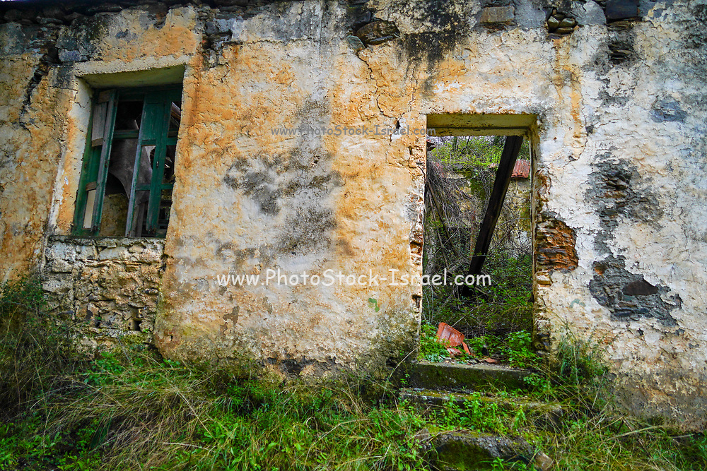 Deserted dilapidated house in Chania, Crete, Greece